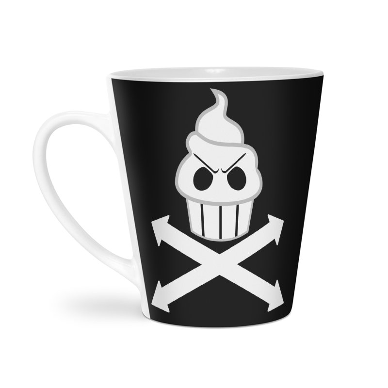 The Swirly Roger Accessories Latte Mug by WatchPony Clothing Collection