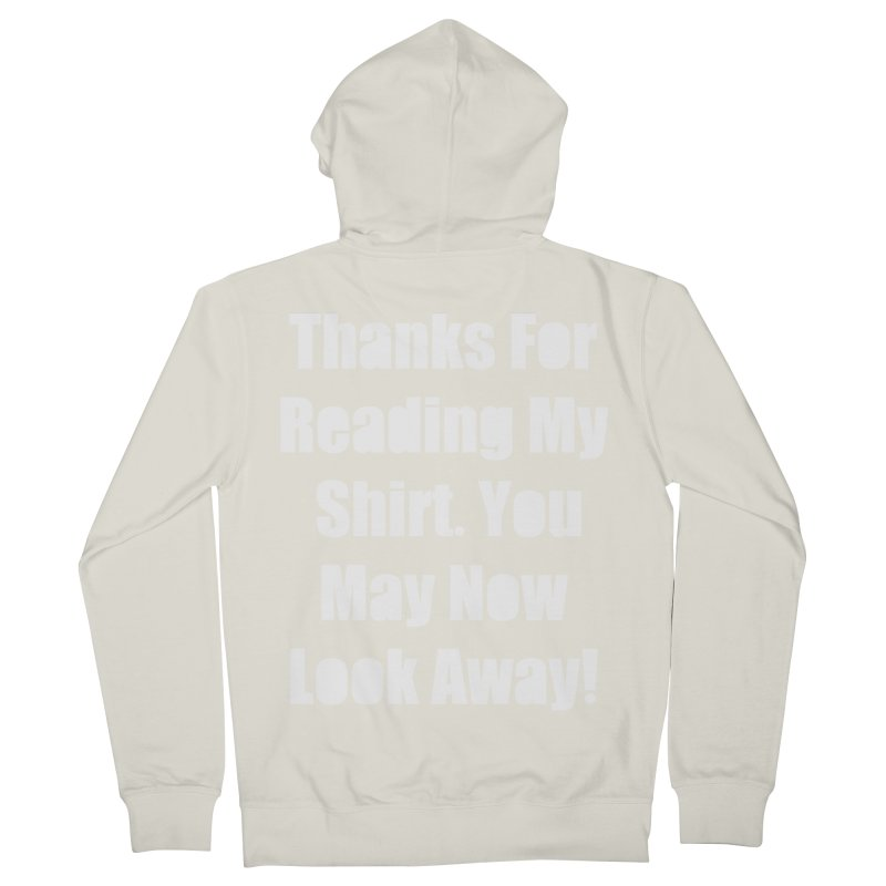 You May Now Look Away Women's French Terry Zip-Up Hoody by WatchPony Clothing Collection