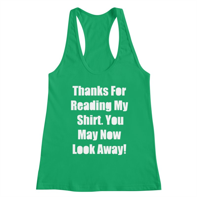 You May Now Look Away Women's Tank by WatchPony Clothing Collection