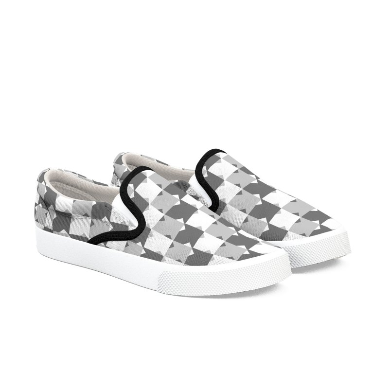 WHT Men's Slip-On Shoes by WatchPony Clothing Collection