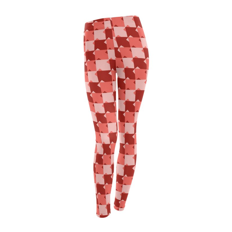 RED Women's Leggings Bottoms by WatchPony Clothing Collection