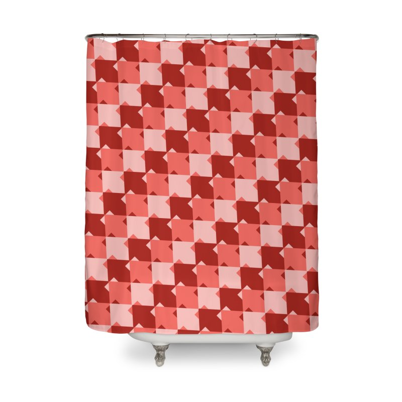 RED Home Shower Curtain by WatchPony Clothing Collection