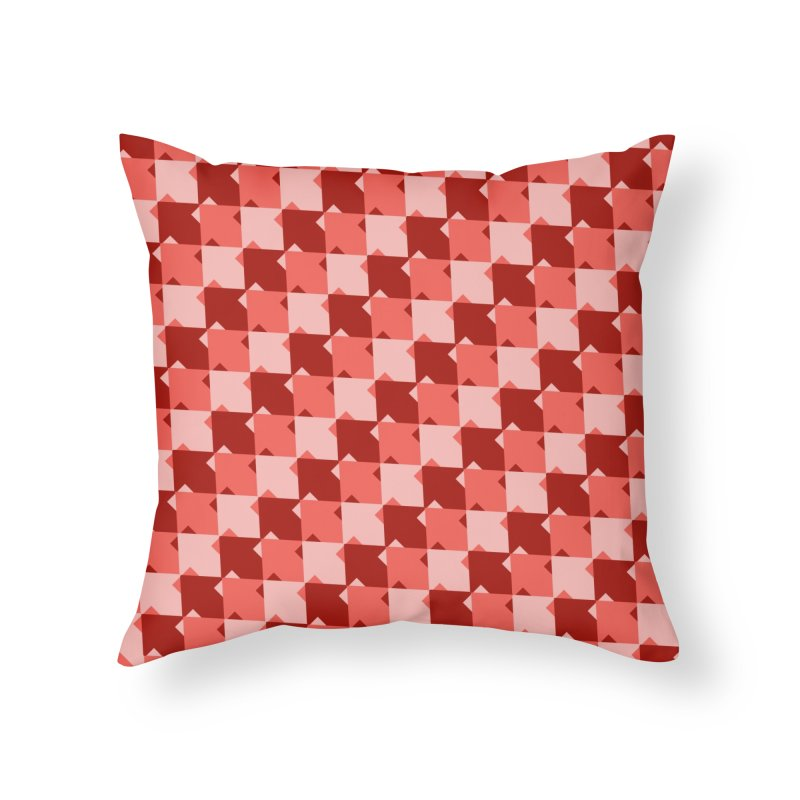 RED Home Throw Pillow by WatchPony Clothing Collection