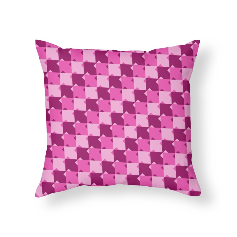 PNK Home Throw Pillow by WatchPony Clothing Collection