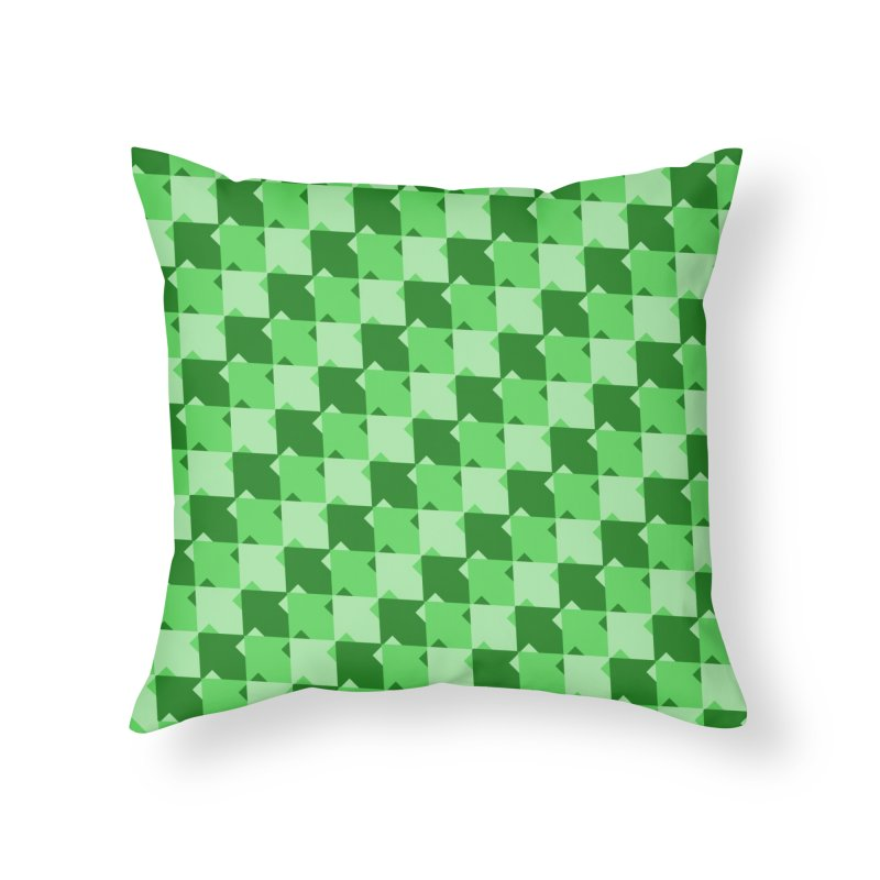 GRN Home Throw Pillow by WatchPony Clothing Collection