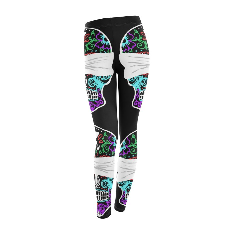 Calavera de Vista Women's Leggings Bottoms by WatchPony Clothing Collection