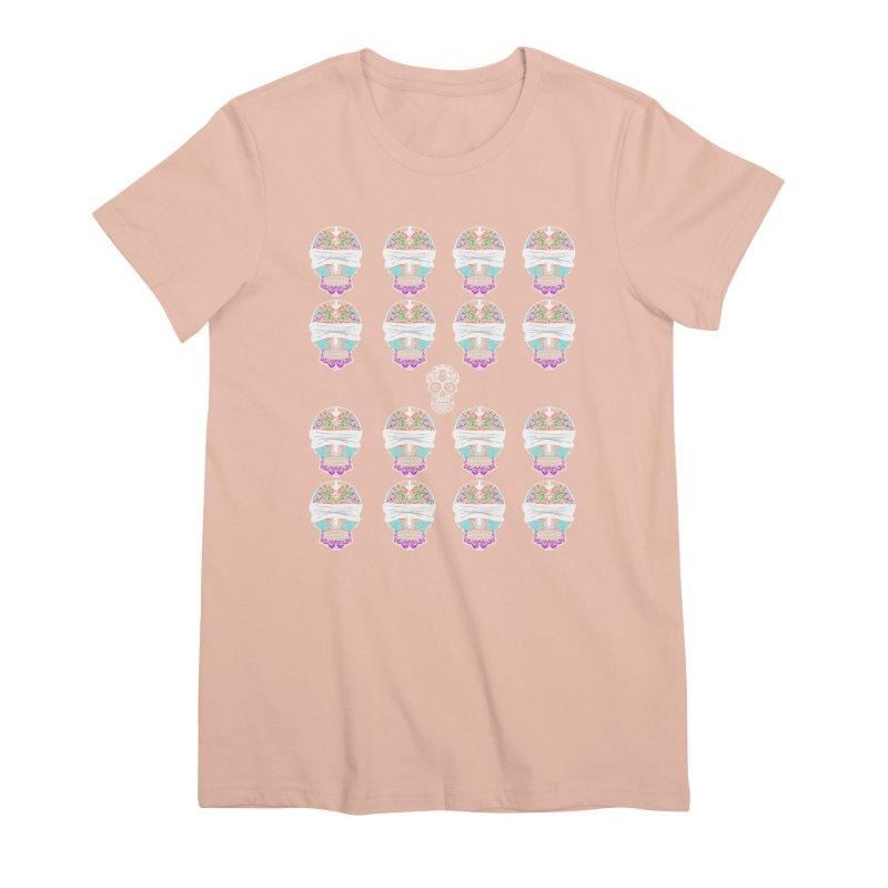 Calavera de Vista Women's Premium T-Shirt by WatchPony Clothing Collection
