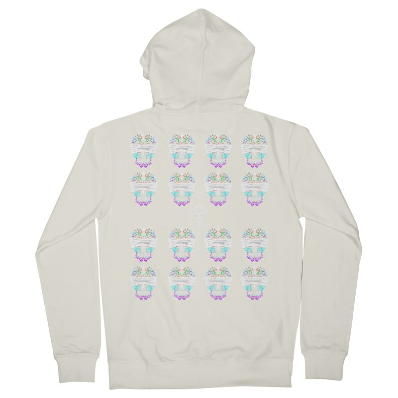 Calavera de Vista Women's French Terry Zip-Up Hoody by WatchPony Clothing Collection