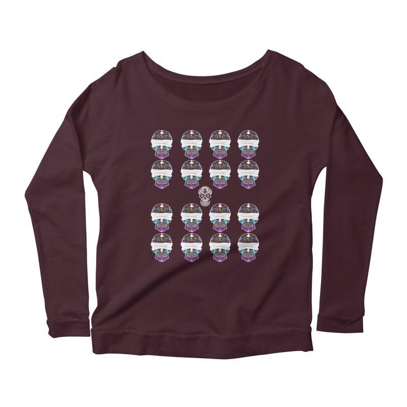 Calavera de Vista Women's Scoop Neck Longsleeve T-Shirt by WatchPony Clothing Collection