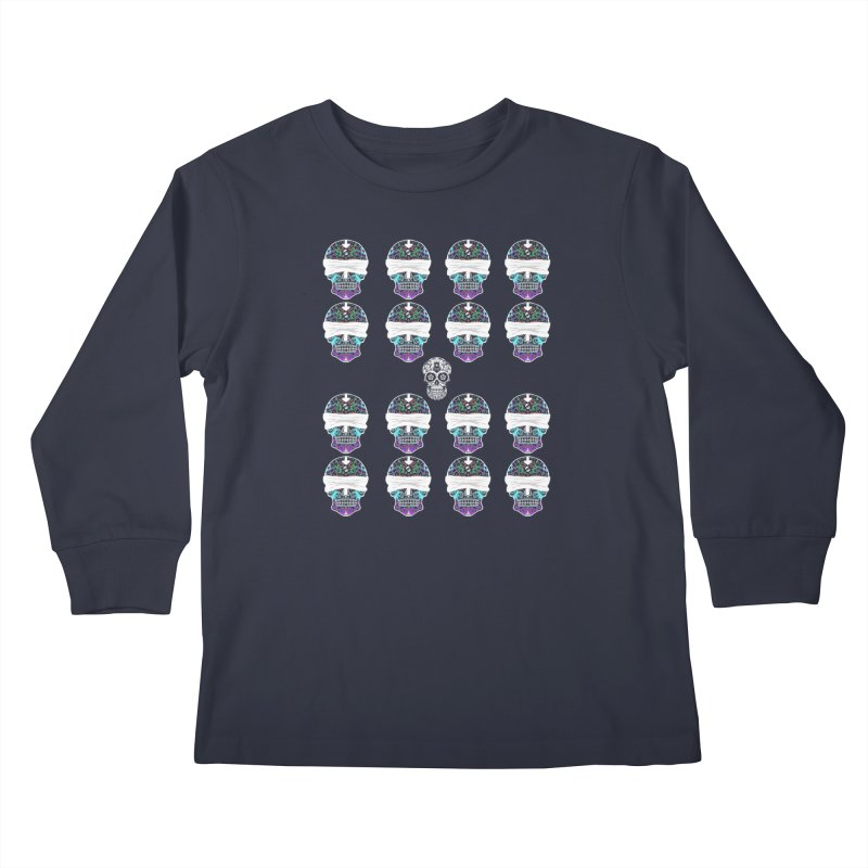 Calavera de Vista Kids Longsleeve T-Shirt by WatchPony Clothing Collection