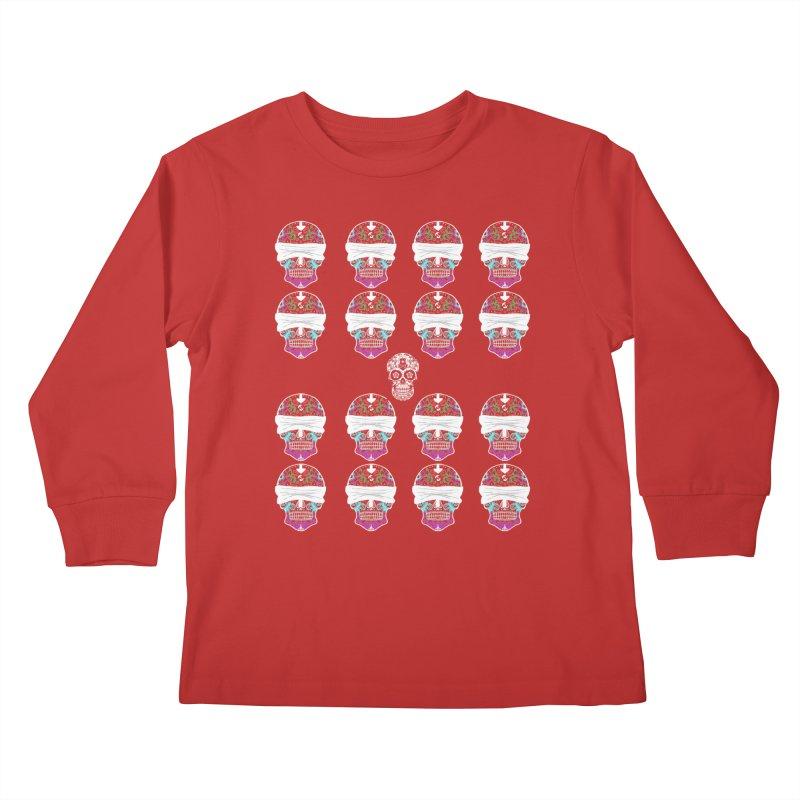 Calavera de Vista Kids Longsleeve T-Shirt by WatchPony Clothing Collection