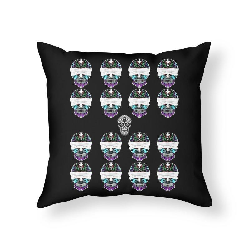 Calavera de Vista Home Throw Pillow by WatchPony Clothing Collection