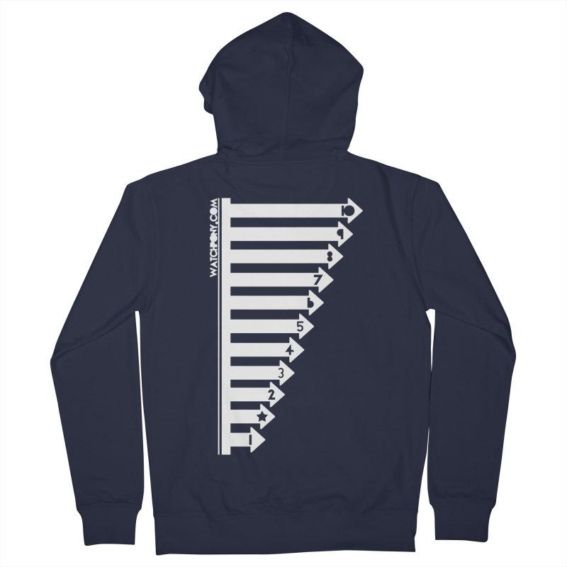 10 Men's Zip-Up Hoody by WatchPony Clothing Collection