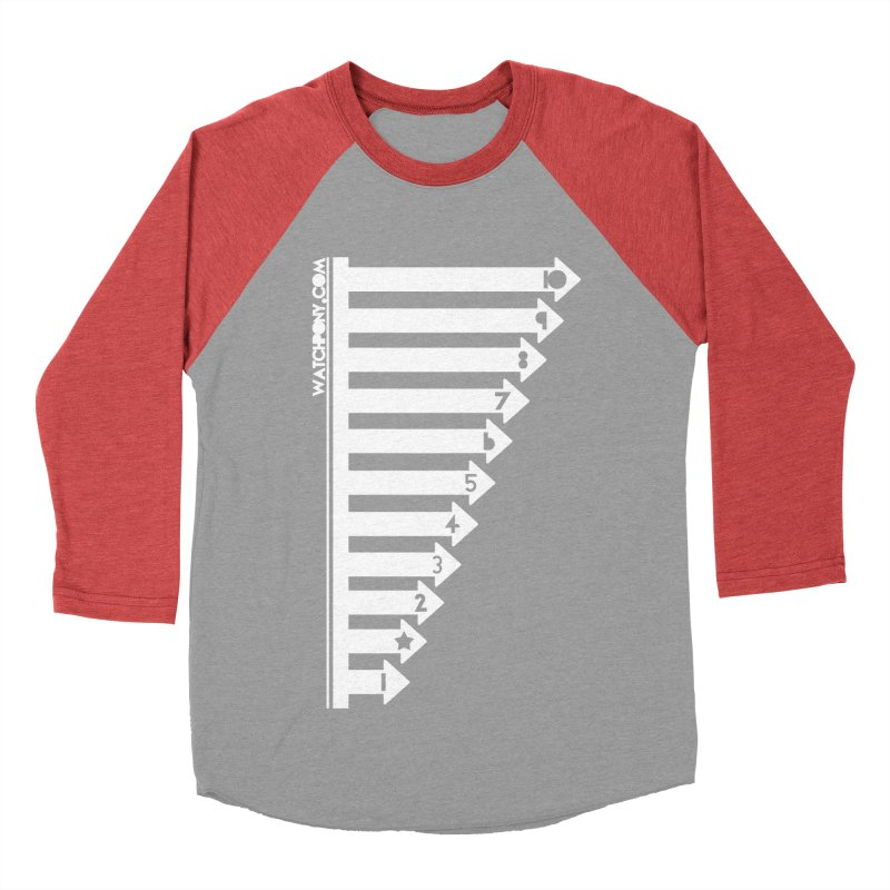 10 Women's Baseball Triblend Longsleeve T-Shirt by WatchPony Clothing Collection