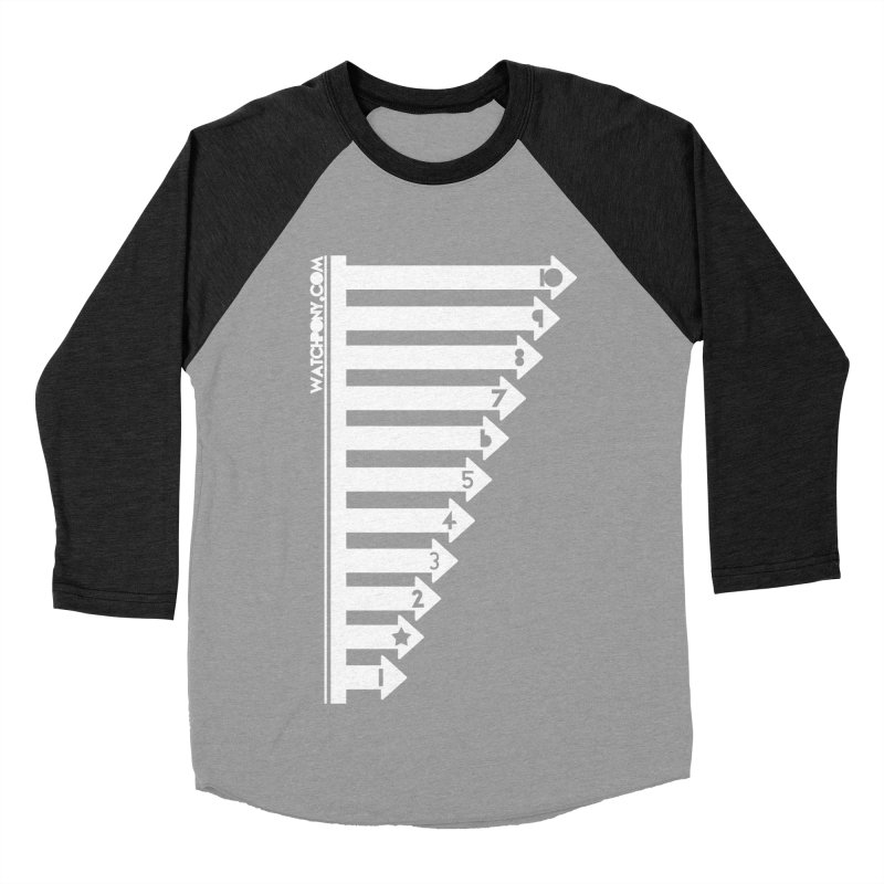 10 Men's Baseball Triblend Longsleeve T-Shirt by WatchPony Clothing Collection