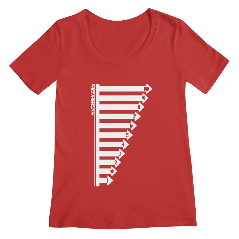 10 Women's Regular Scoop Neck by WatchPony Clothing Collection