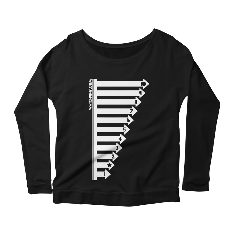 10 Women's Scoop Neck Longsleeve T-Shirt by WatchPony Clothing Collection
