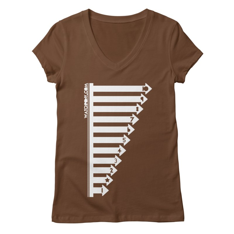 10 Women's Regular V-Neck by WatchPony Clothing Collection