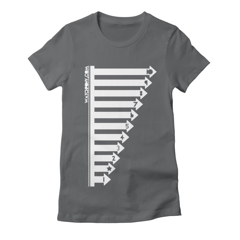 10 Women's Fitted T-Shirt by WatchPony Clothing Collection