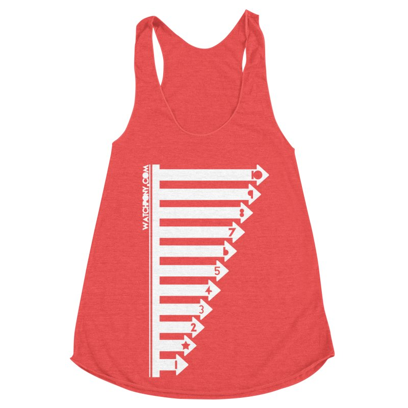 10 Women's Racerback Triblend Tank by WatchPony Clothing Collection