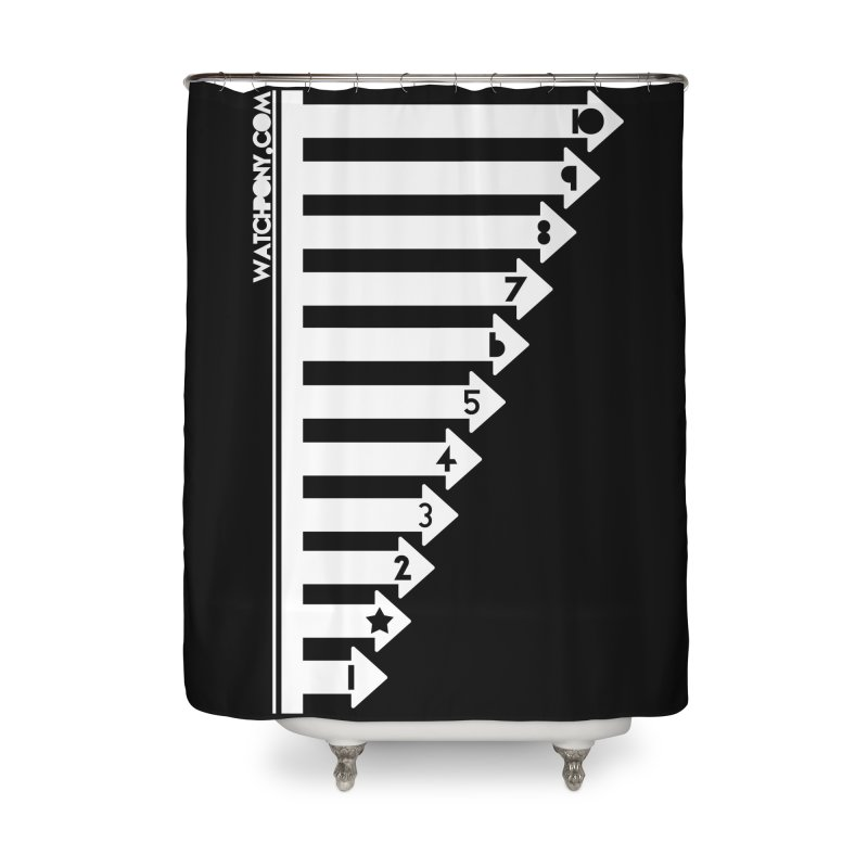 10 Home Shower Curtain by WatchPony Clothing Collection
