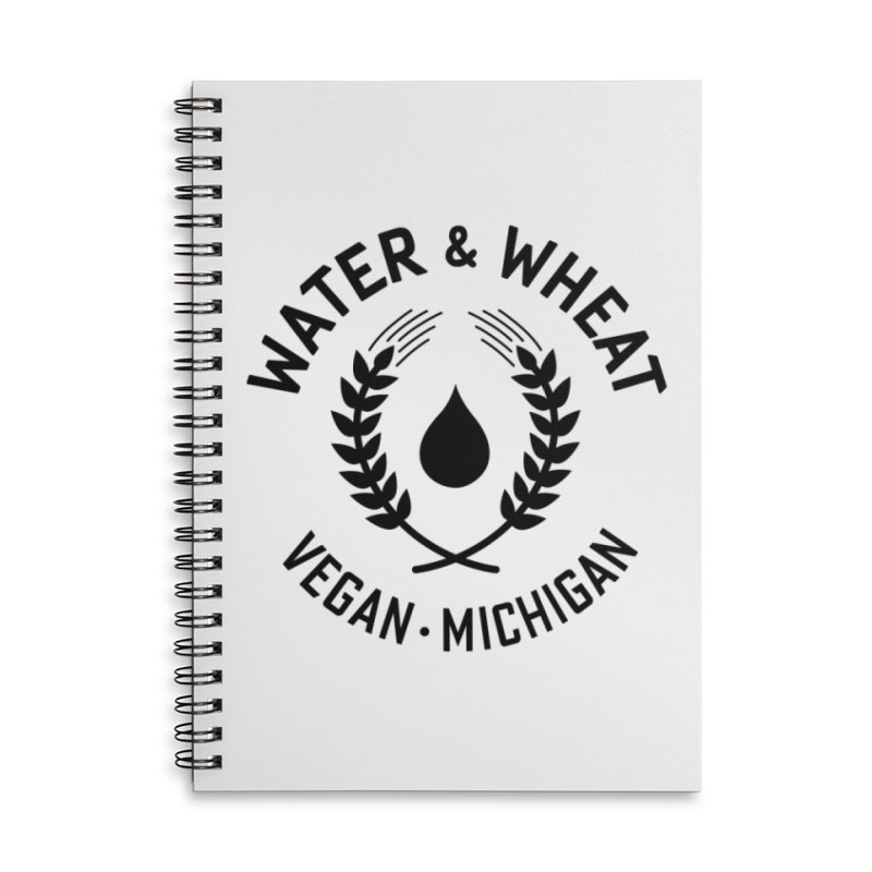 W&W Vegan logo Black Accessories Notebook by Water and Wheat's Artist Shop