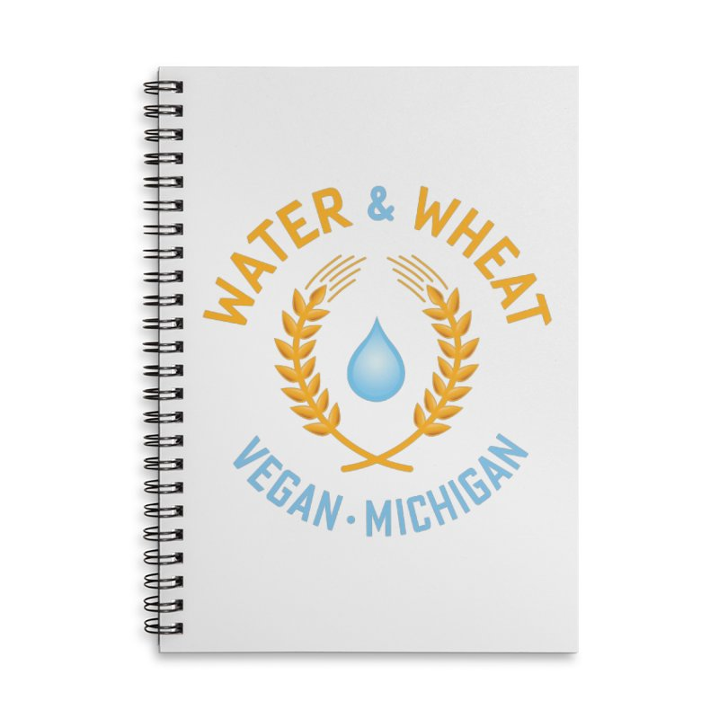 W&W Vegan color logo Accessories Notebook by Water and Wheat's Artist Shop