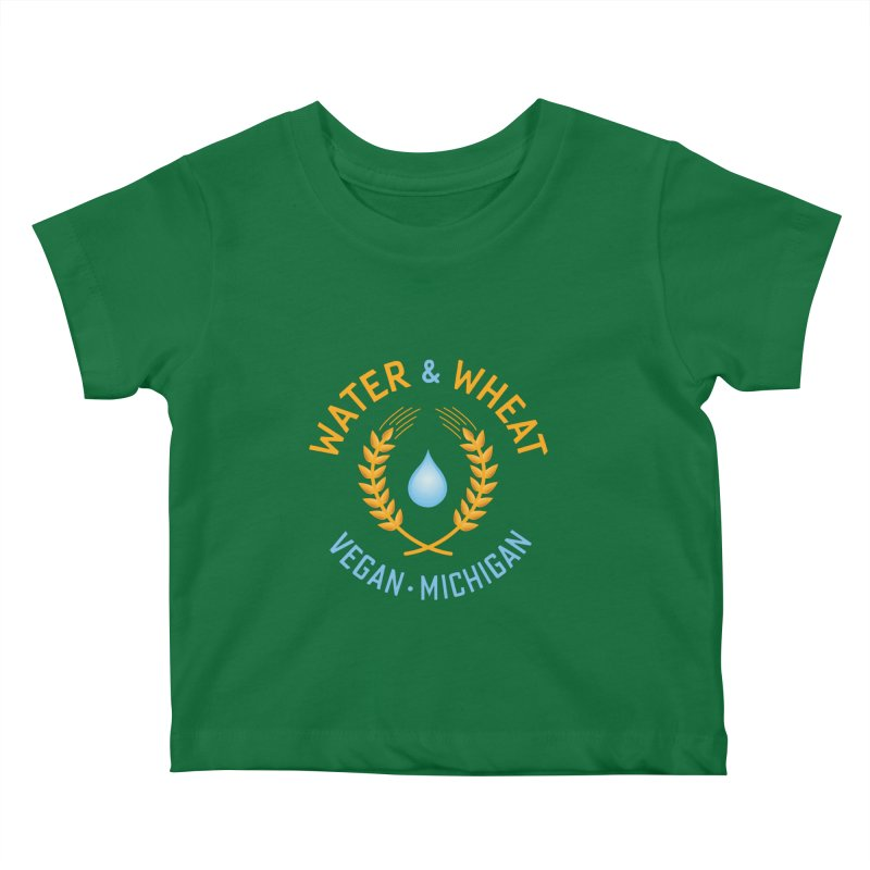 W&W Vegan color logo Kids Baby T-Shirt by Water and Wheat's Artist Shop
