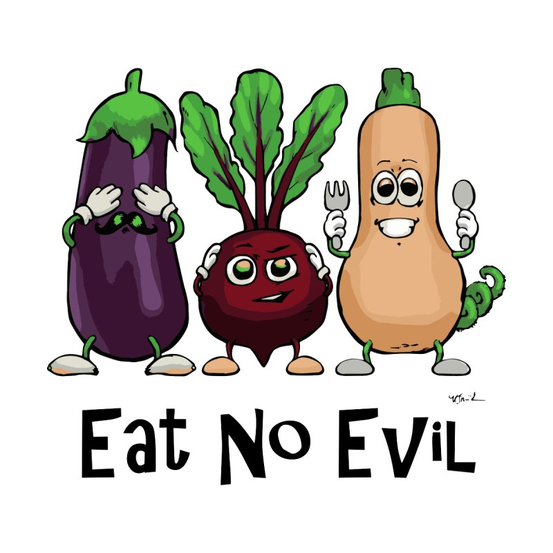 Eat No Evil Men's T-Shirt by Water and Wheat's Artist Shop