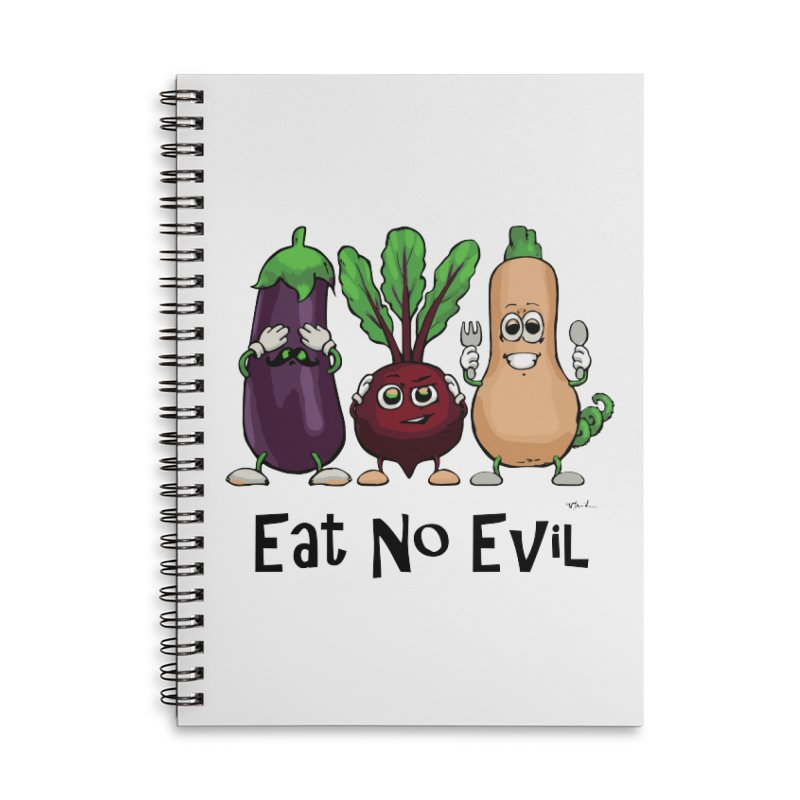 Eat No Evil Accessories Notebook by Water and Wheat's Artist Shop