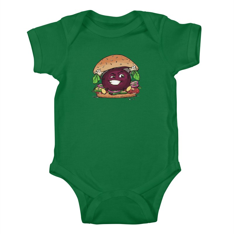 Pete The Beet Kids Baby Bodysuit by Water and Wheat's Artist Shop