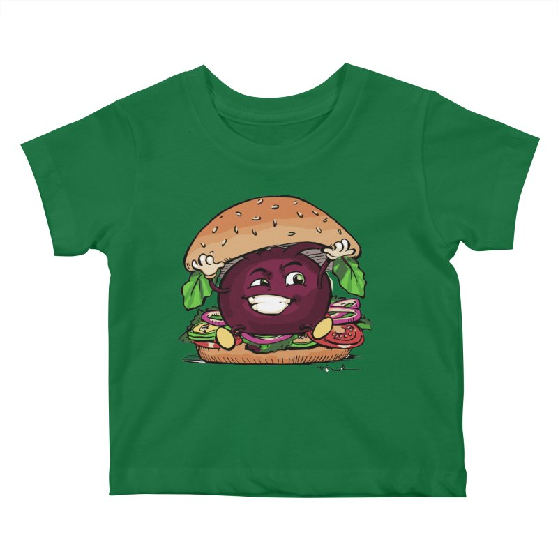 Pete The Beet Kids Baby T-Shirt by Water and Wheat's Artist Shop