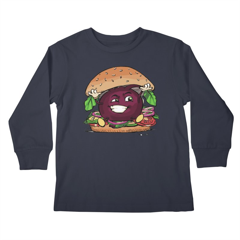 Pete The Beet Kids Longsleeve T-Shirt by Water and Wheat's Artist Shop