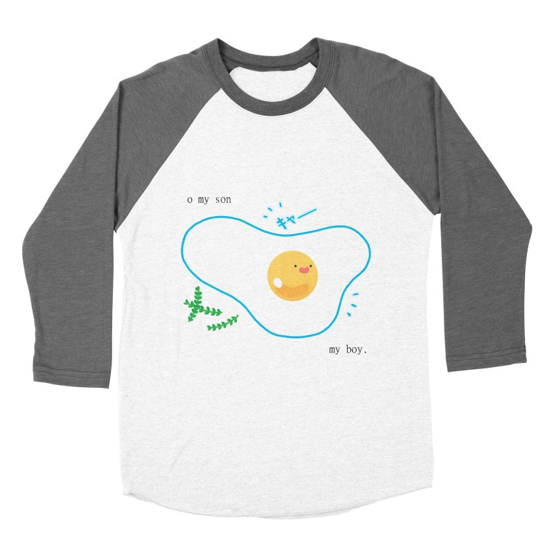 tamago-kun Men's Baseball Triblend T-Shirt by Hey there, Waterbear!
