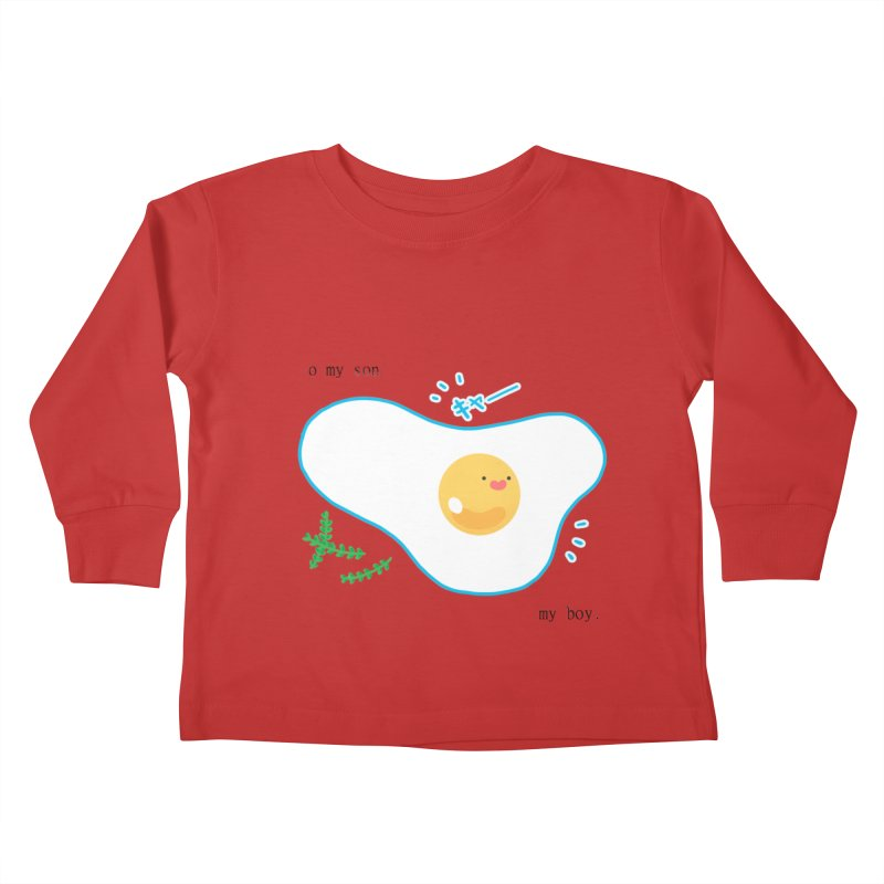 tamago-kun Kids Toddler Longsleeve T-Shirt by Hey there, Waterbear!