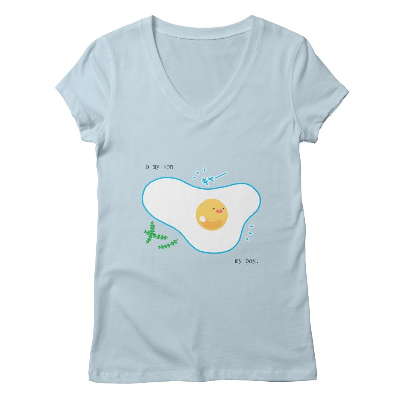 tamago-kun Women's V-Neck by Hey there, Waterbear!