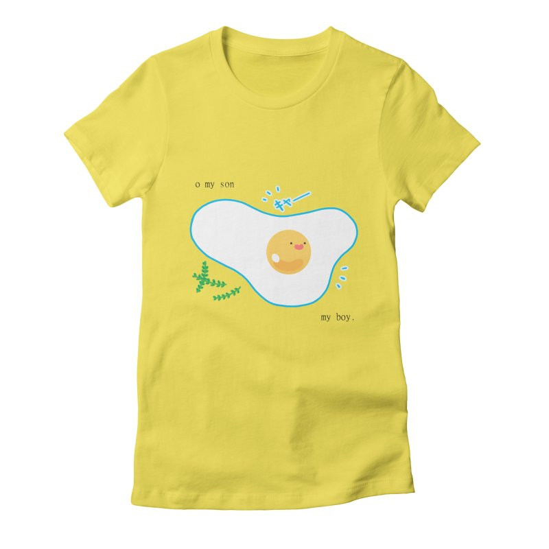tamago-kun Women's Fitted T-Shirt by Hey there, Waterbear!