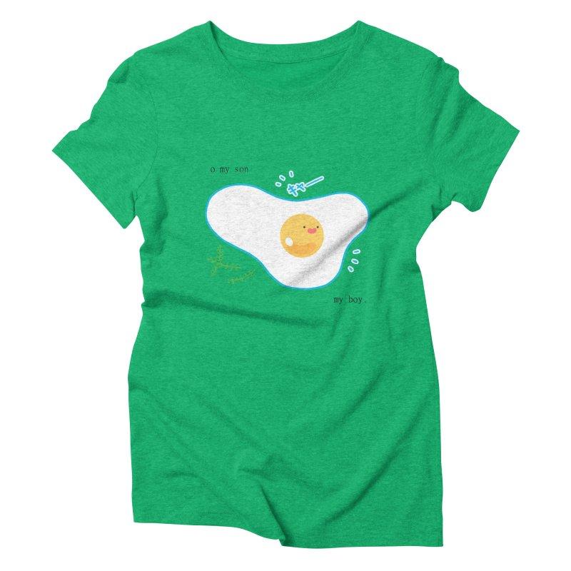 tamago-kun Women's Triblend T-Shirt by Hey there, Waterbear!