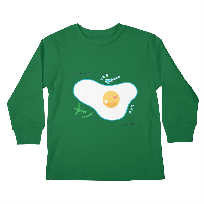 tamago-kun Kids Longsleeve T-Shirt by Hey there, Waterbear!