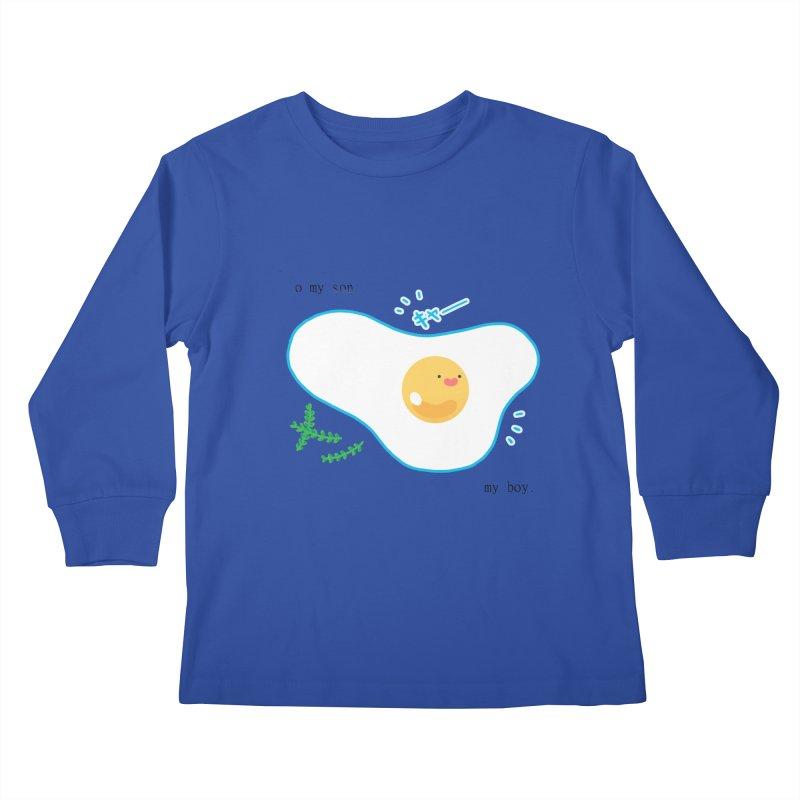 tamago-kun Kids Longsleeve T-Shirt by Hey there, Waterbear!