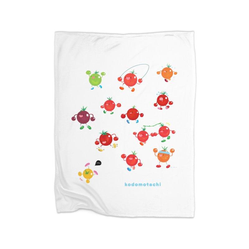 kodomotachi Home Fleece Blanket Blanket by Hey there, Waterbear!