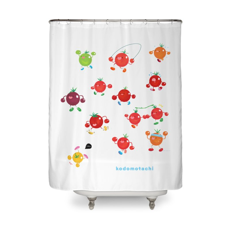 kodomotachi Home Shower Curtain by Hey there, Waterbear!