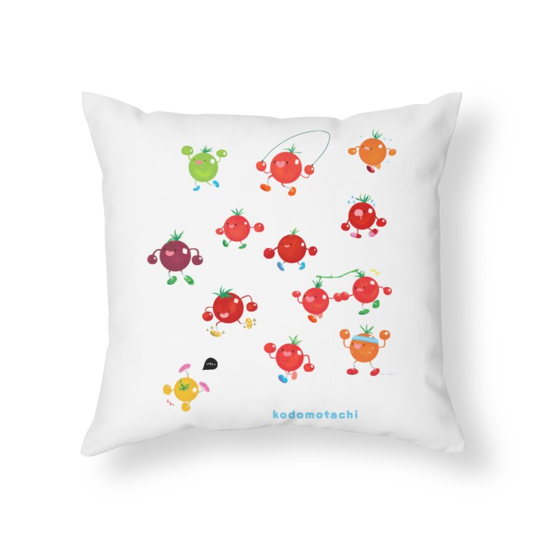kodomotachi Home Throw Pillow by Hey there, Waterbear!