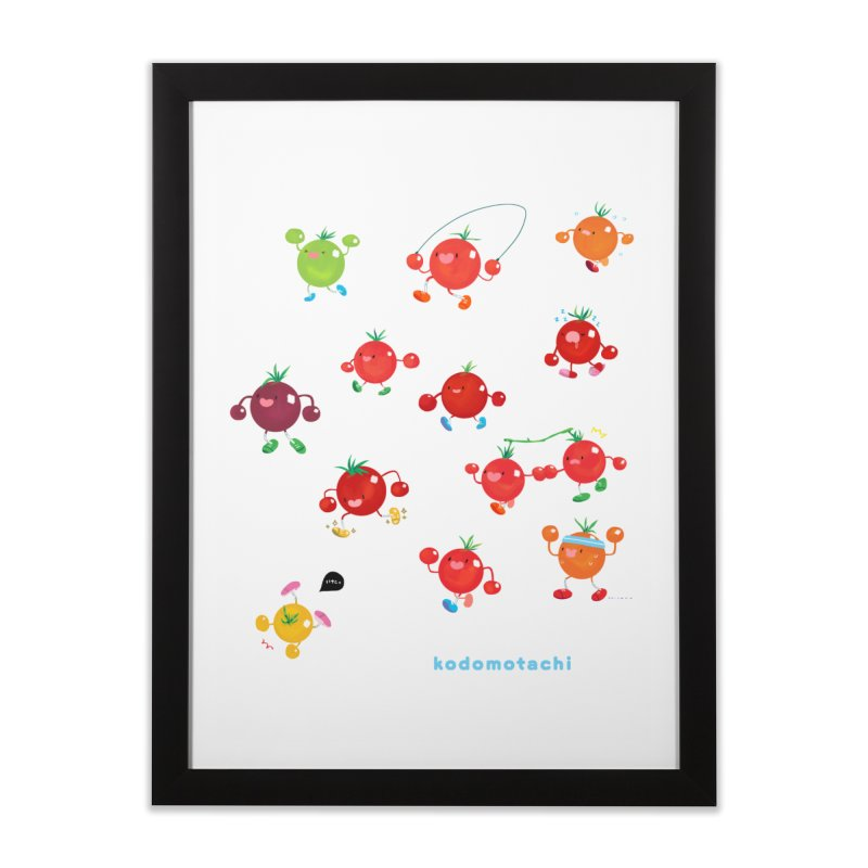 kodomotachi Home Framed Fine Art Print by Hey there, Waterbear!