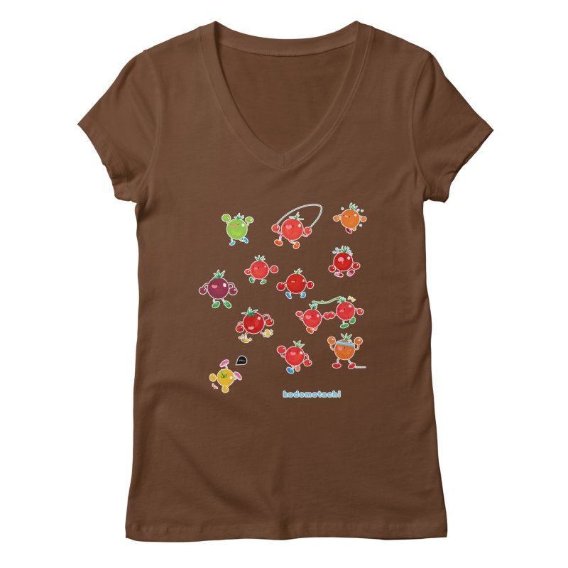kodomotachi (version 2) Women's V-Neck by Hey there, Waterbear!