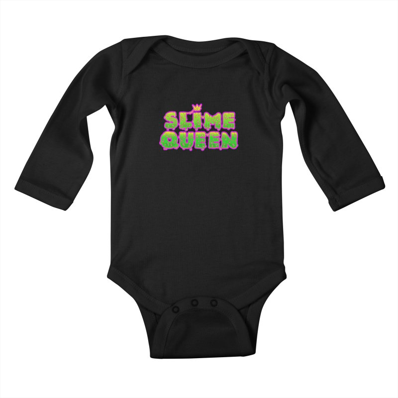 SLiME QUEEN Kids Baby Longsleeve Bodysuit by Hey there, Waterbear!