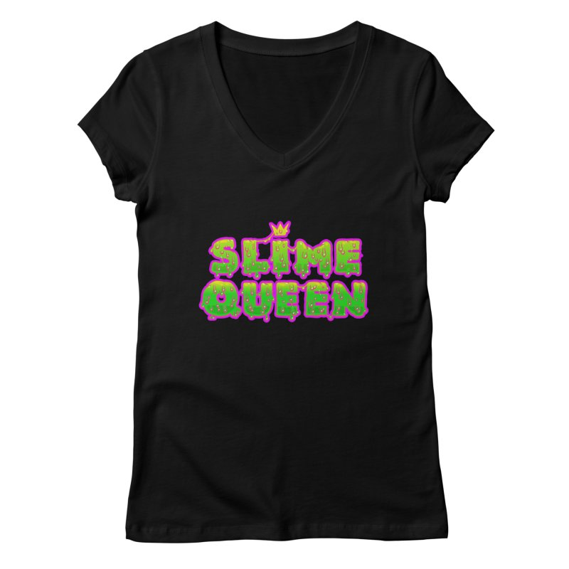 SLiME QUEEN Women's Regular V-Neck by Hey there, Waterbear!