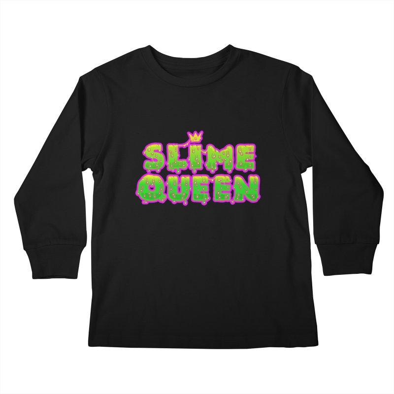 SLiME QUEEN Kids Longsleeve T-Shirt by Hey there, Waterbear!
