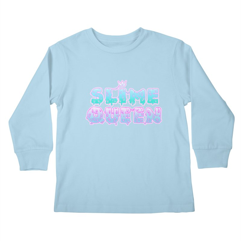 SLiME QUEEN (soft goth) Kids Longsleeve T-Shirt by Hey there, Waterbear!