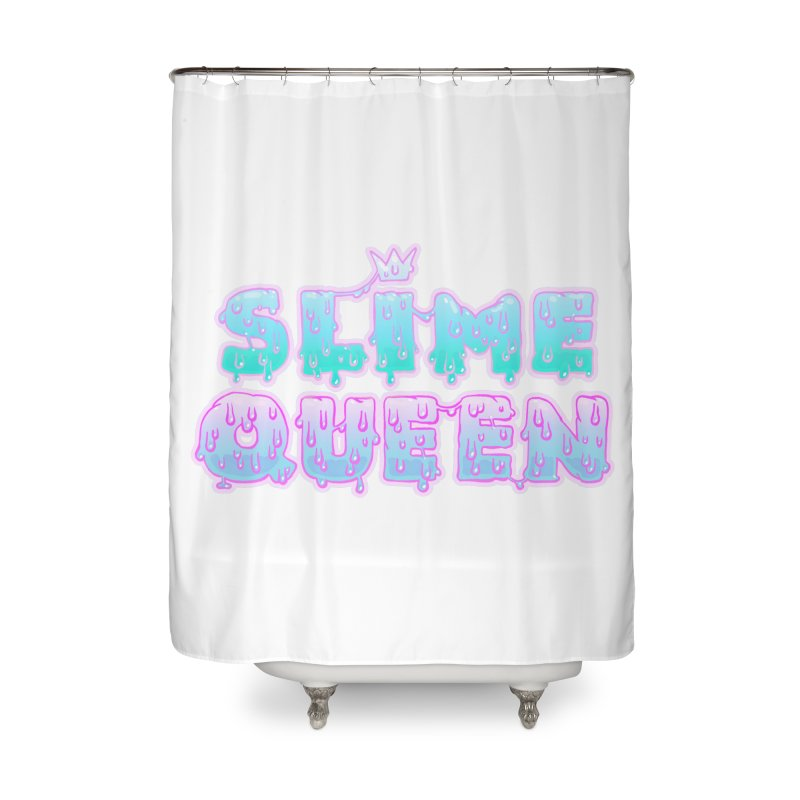 SLiME QUEEN (soft goth) Home Shower Curtain by Hey there, Waterbear!